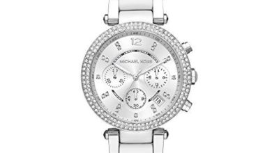 4a45f5b50de8 Michael Kors Watches Collection 2018   2019   Michael Kors Parker White    Silver Chronograph Watch     Check out the image by …