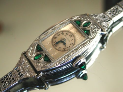 Vintage Watches Collection : 1930 Ladies Art Deco Emerald Bulova Watch  Emerald Filigree Band Original Case | ... - Watches Topia - Watches: Best  Lists, Trends & the Latest Styles